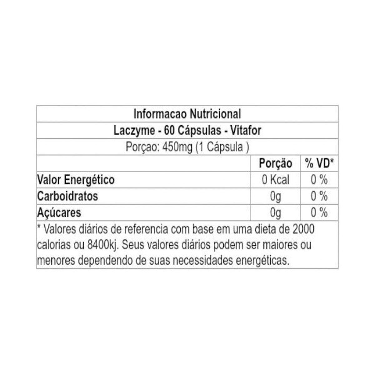 Laczyme 60 cápsulas - Vitafor
