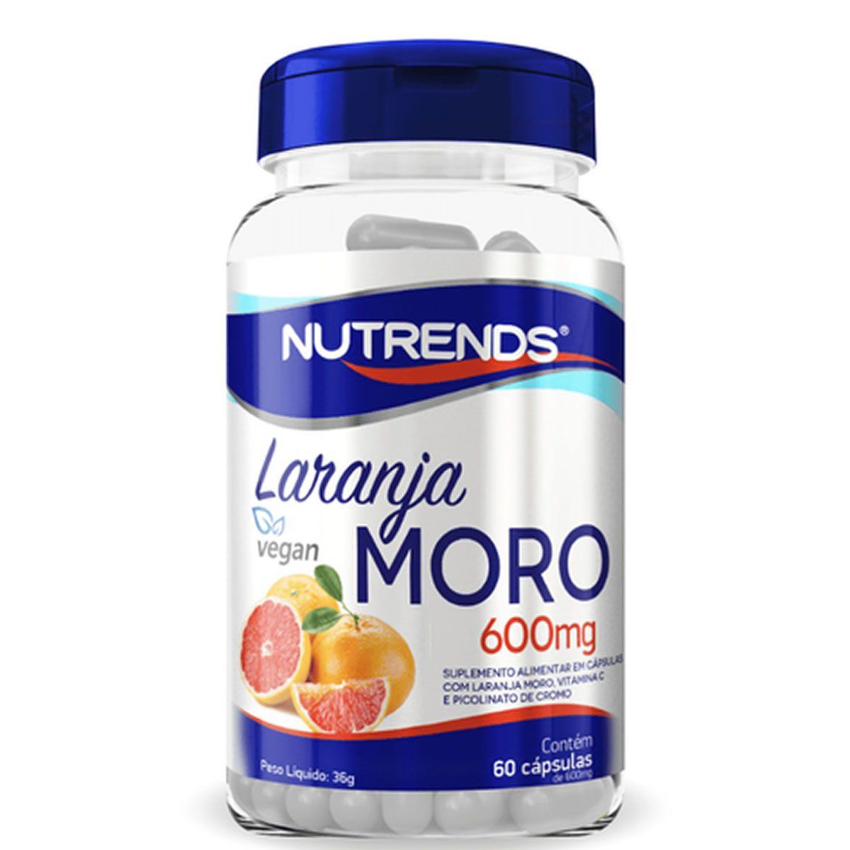 Laranja Moro 600mg 60 Cápsulas - Nutrends