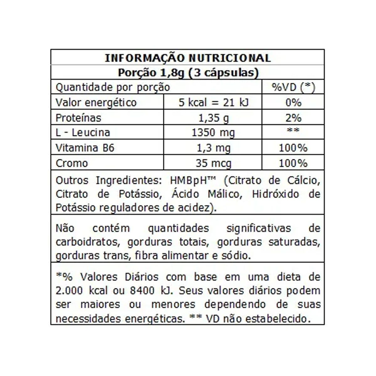Leucine HMB Pós-treino 90 Cápsulas - Body Action