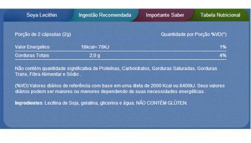 Licitina de Soja 120 cápsulas - Vitamin Life