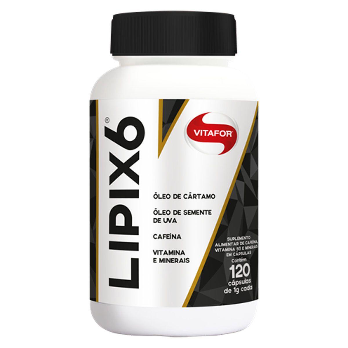 Lipix 6 120 cápsulas de 100mg - Vitafor