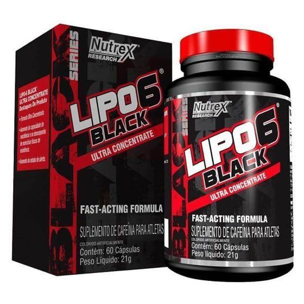 Termogenico Lipo 6 Black Ultra Concentrado 60 Cápsulas - Nutrex