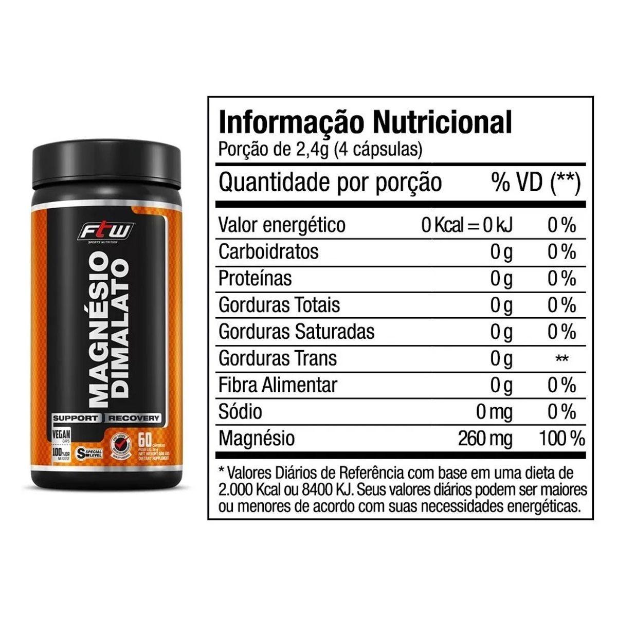 Magnesio Dimalato - 60 Cápsulas