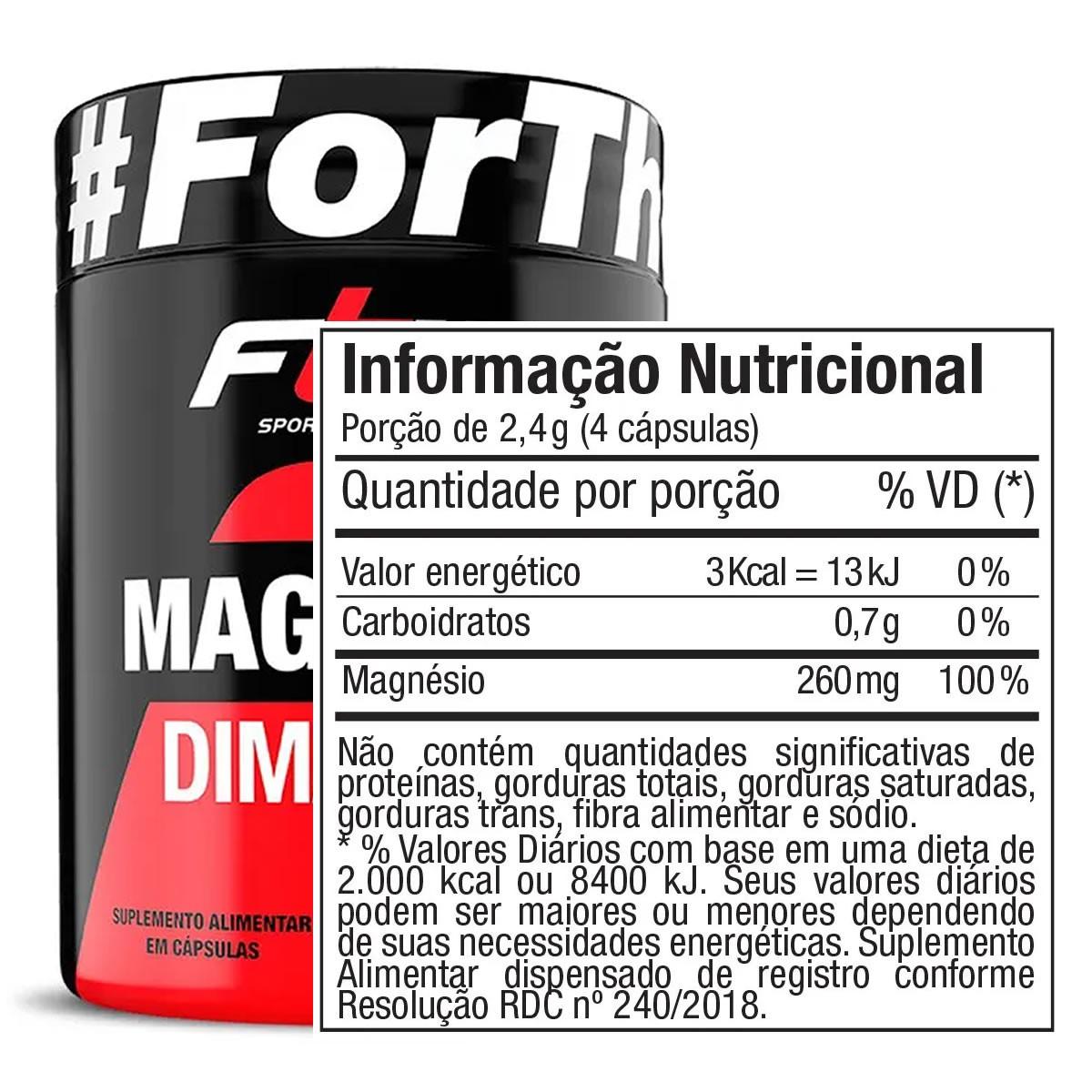 Magnesio Dimalato 60 Cápsulas - FTW