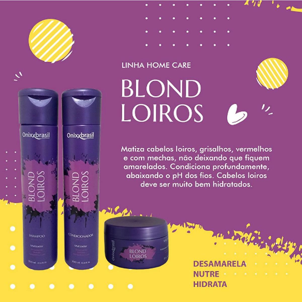 Máscara Blond Loiros 250g - Onixxbrasil