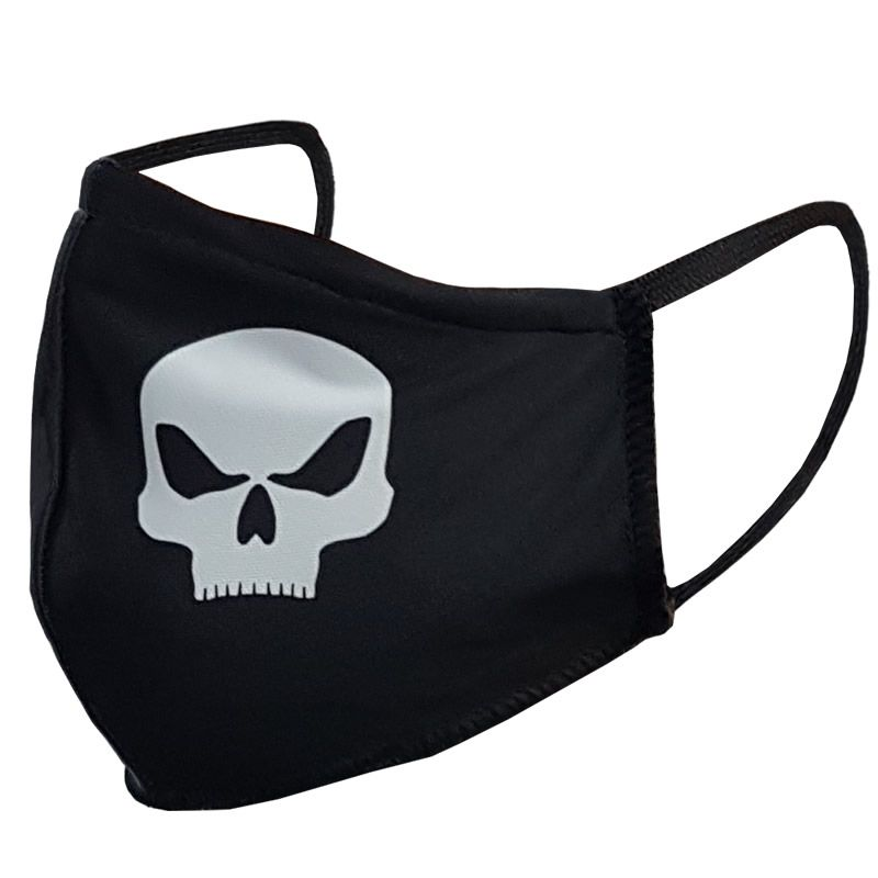 Máscara De Proteção Esportiva - Black Skull