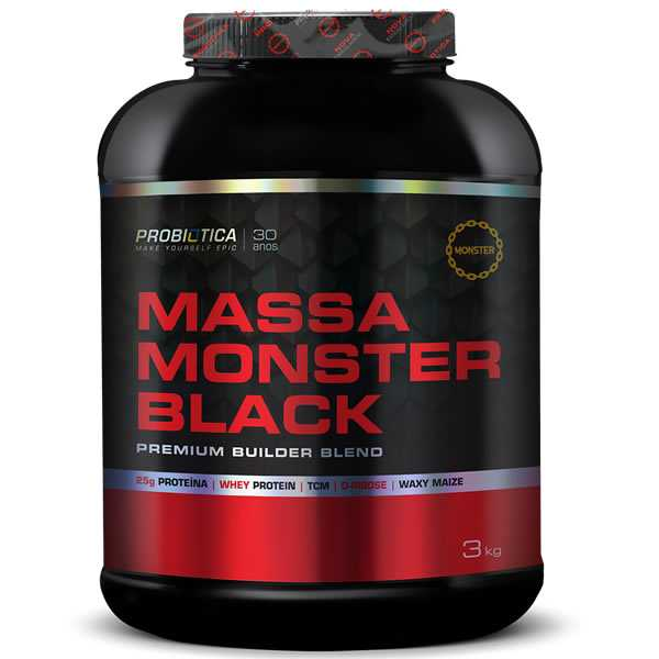 Massa Monster Black 3 Kg - Probiótica