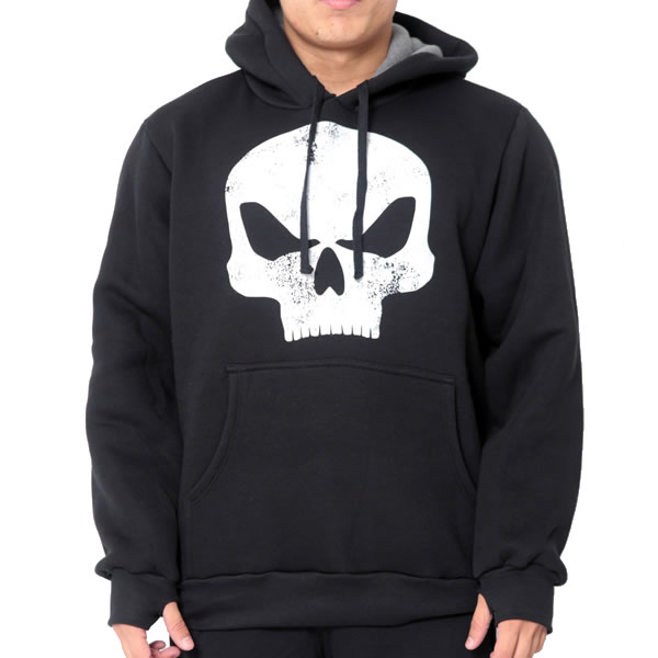 Moletom Canguru Armour - Preto - Black Skull