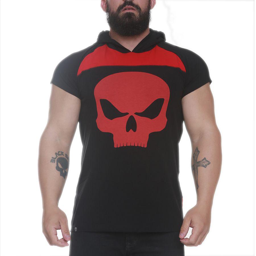 Moleton Machao Capuz Preto - Black Skull