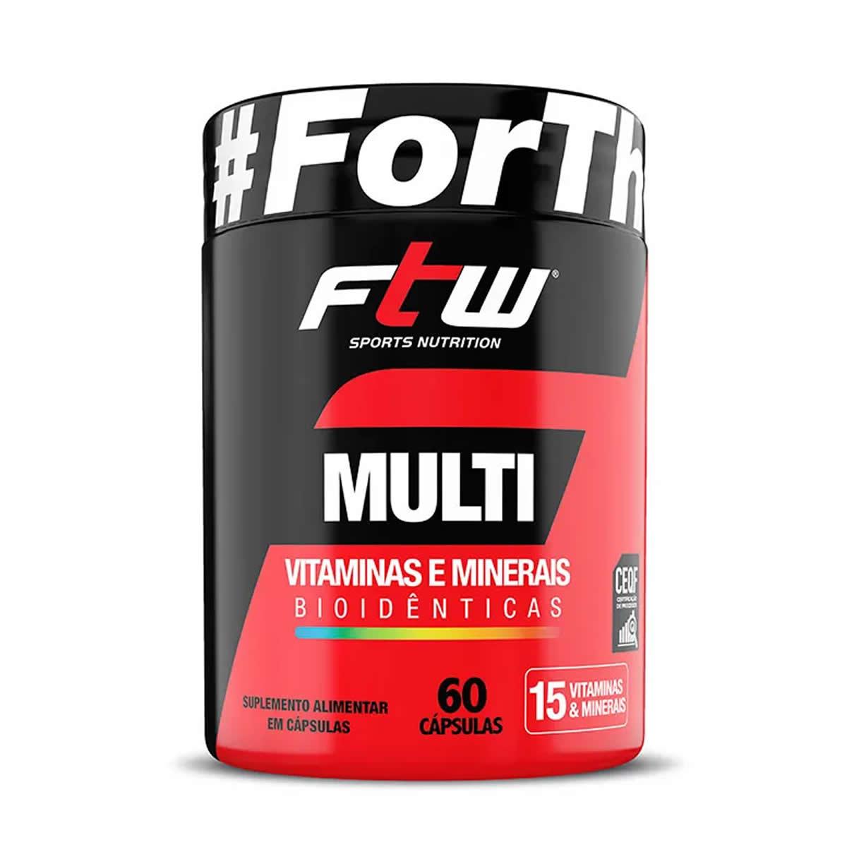 Multi Vitaminas e Minerais Bioidênticas 60 Cáps - FTW