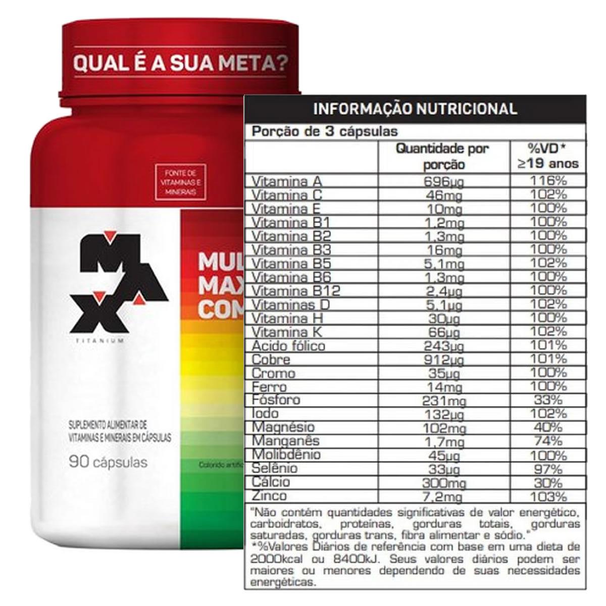 Multimax Complex 90 Cápsulas - Max Titanium