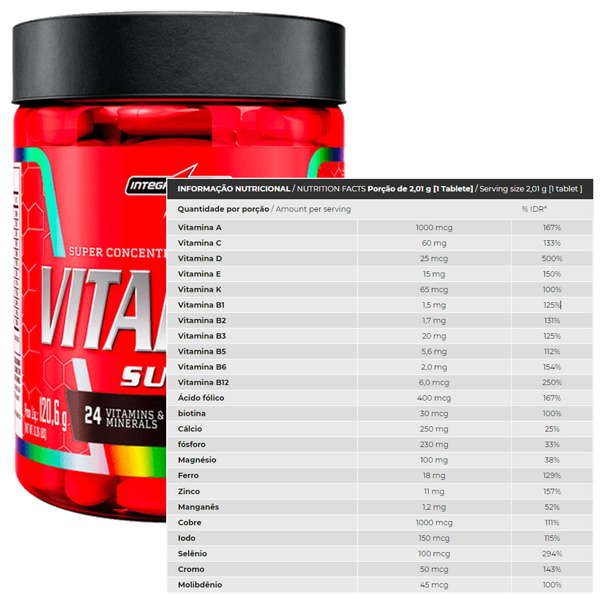 Multivitamínico Vitapure Super 60 Tabs - Integralmédica