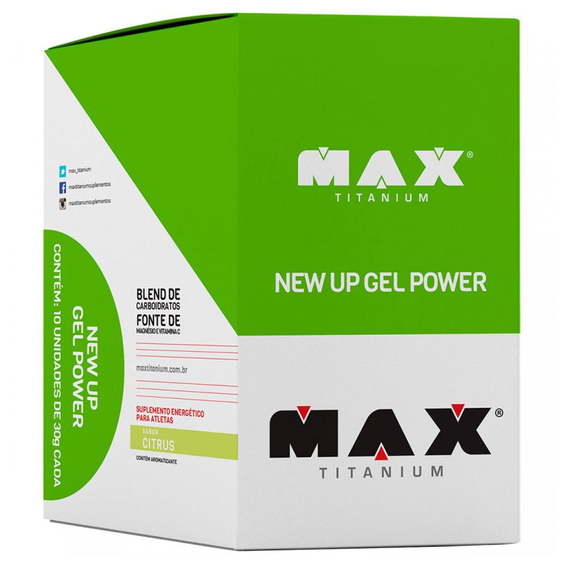 New Up Gel - 10 Sachês de 30g - Max Titanium