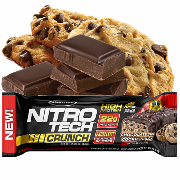 Nitro Tech Crunch 65 g Chocolate Chip Cookie Dough - Muscletech