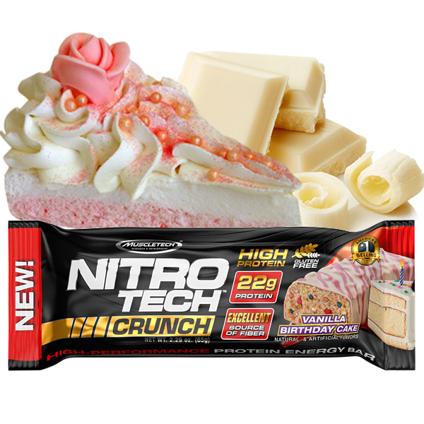 Nitro Tech Crunch 65 g Vanilla Birthday Cake - Muscletech