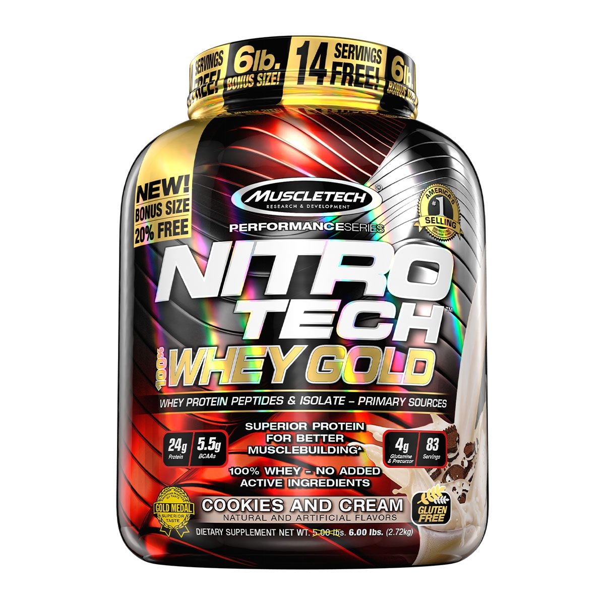 Nitro Tech  Whey Gold2,5kg- Muscletech