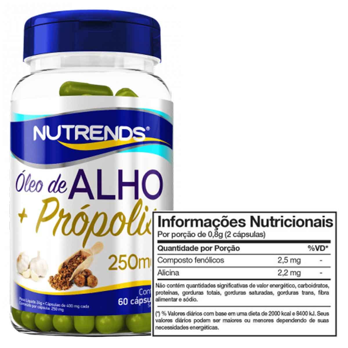 Óleo de Alho + Própolis 60 cápsulas - Nutrends