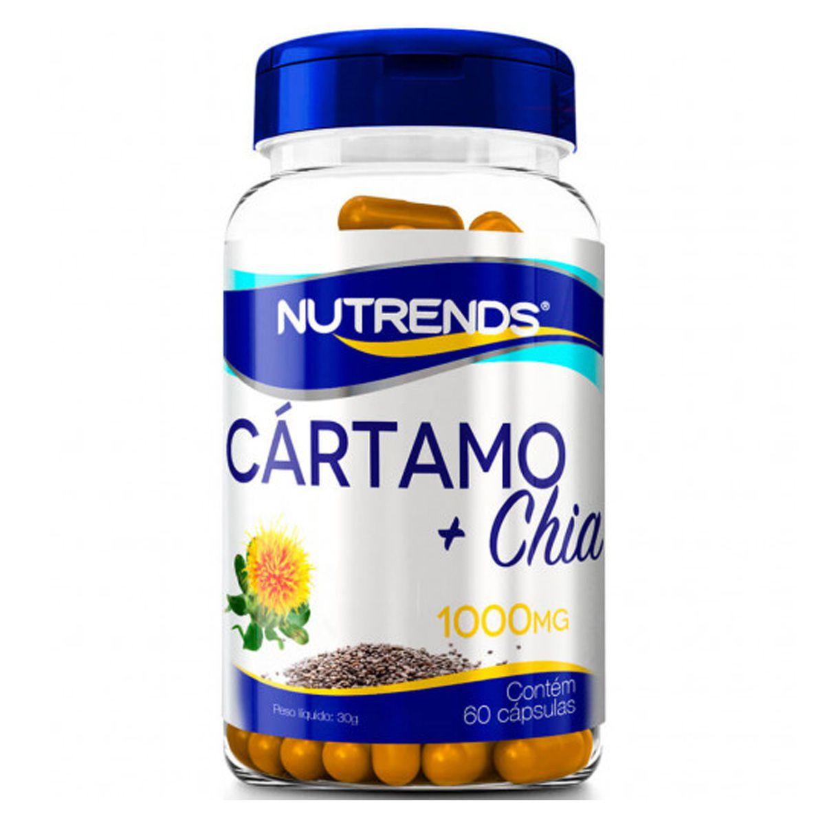 Óleo de Cartamo + Chia 1000mg 60 cápsulas - Nutrends