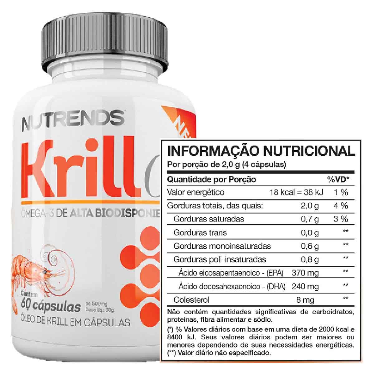Óleo de Krill 500mg 60 cápsulas - Nutrends