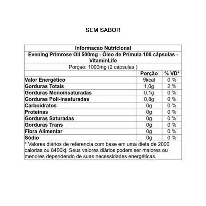 Oleo de Prímula 100 cápsulas - Vitamin Life