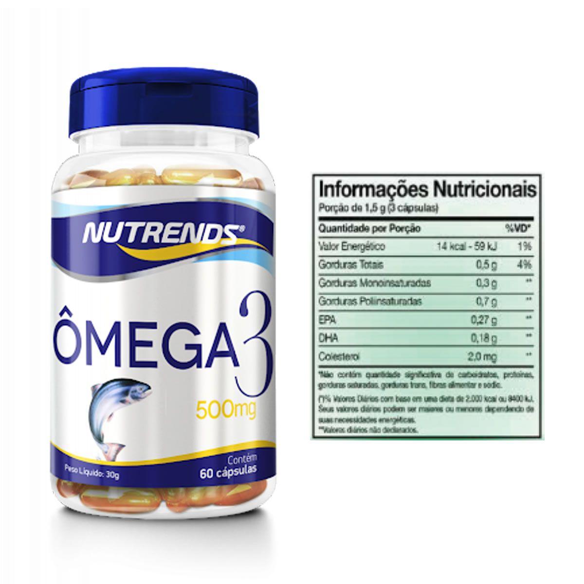 Omega 3 500mg 60 Cápsulas - Nutrends