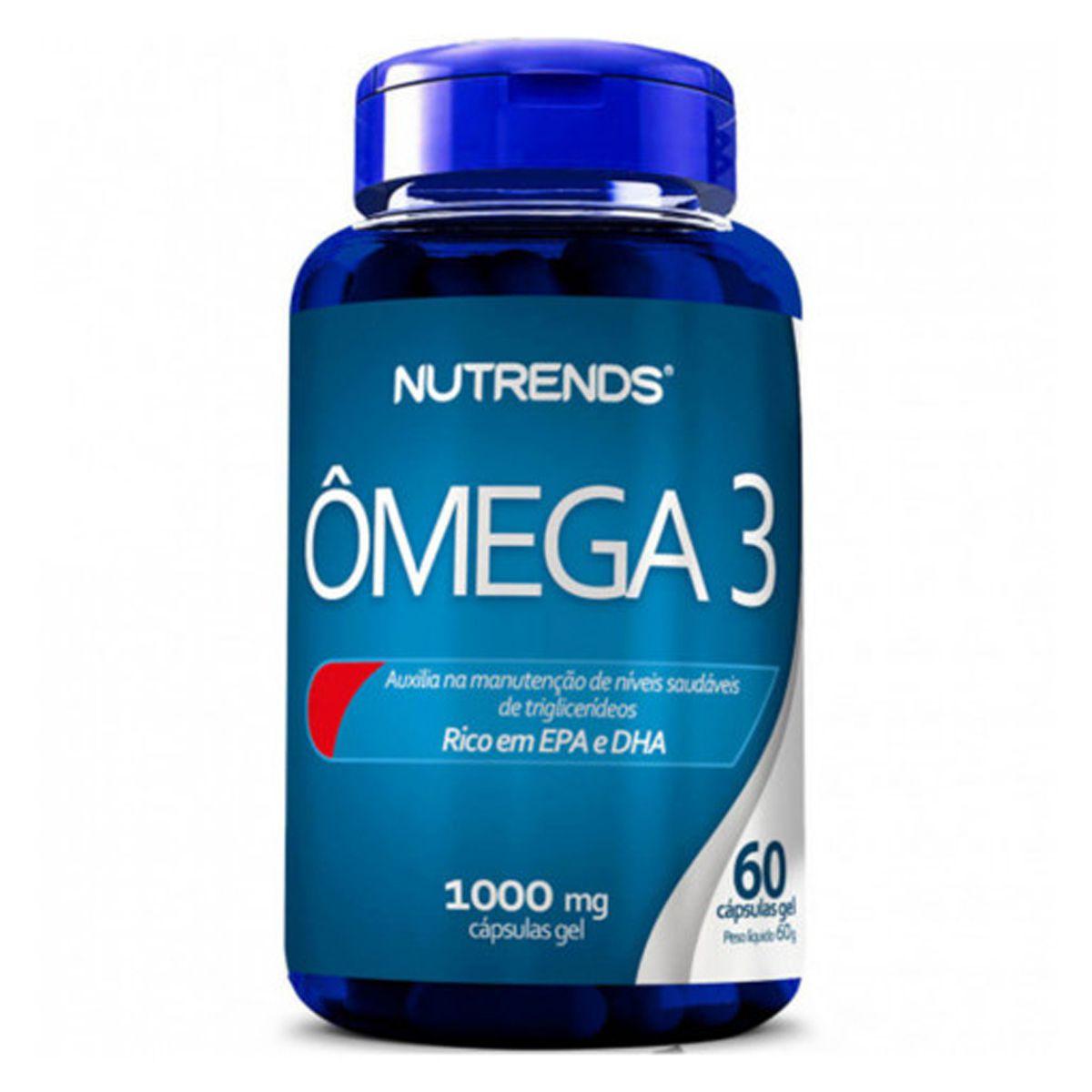 Ômega 3 EPA/DHA 1000mg 60 cápsulas - Nutrends