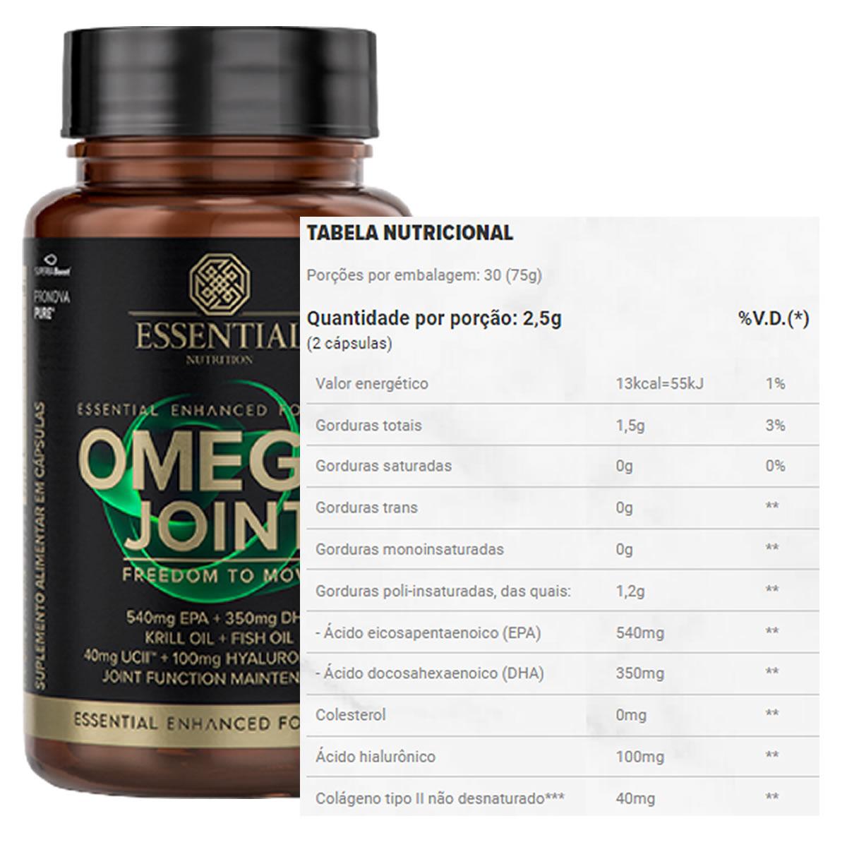 Ômega Joint 60 Cápsulas - Essential Nutrition