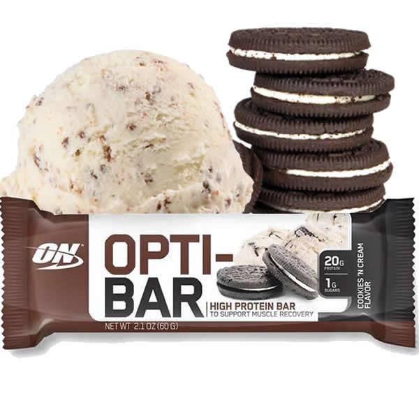 Opti-bar 60 g Cookies & Cream - Optimum Nutrition