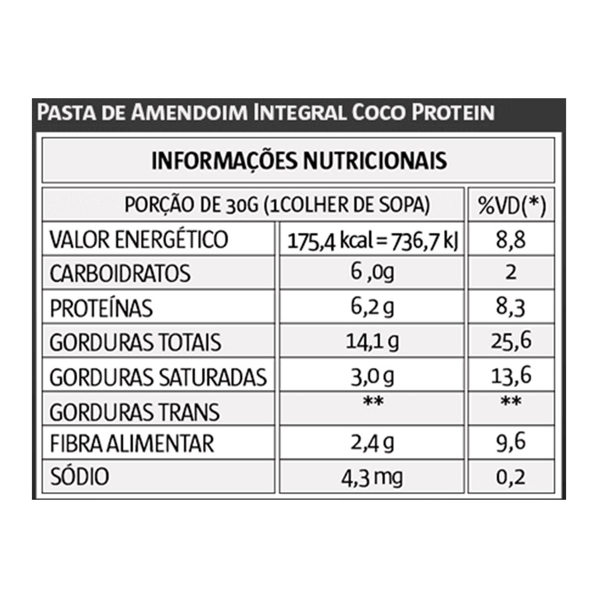 Pasta de Amendoim Coco 1kg - Vitapower
