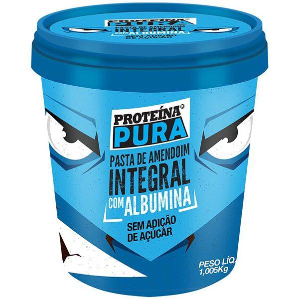 Pasta de Amendoim com Albumina 1kg - Proteína Pura - Netto Alimentos