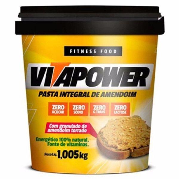 Pasta de Amendoim - Crocante - 1 kg - Vitapower