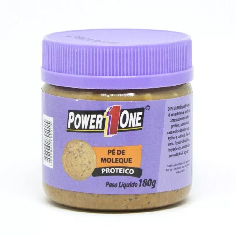 Pasta de Amendoim Pé de Moleque Proteico - 180g - Power One