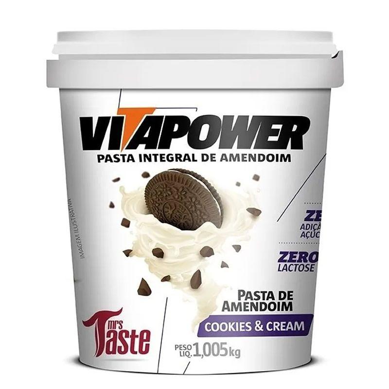 Pasta de Amendoim Premium Cookies & Cream 1kg - Vitapower