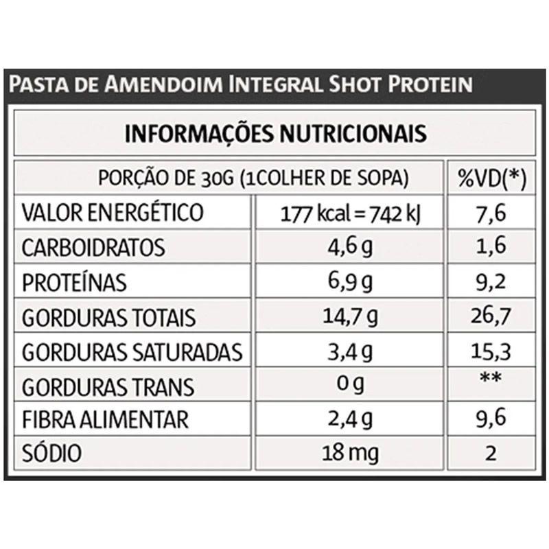 Pasta de Amendoim Premium Shot Protein 1kg - Vitapower
