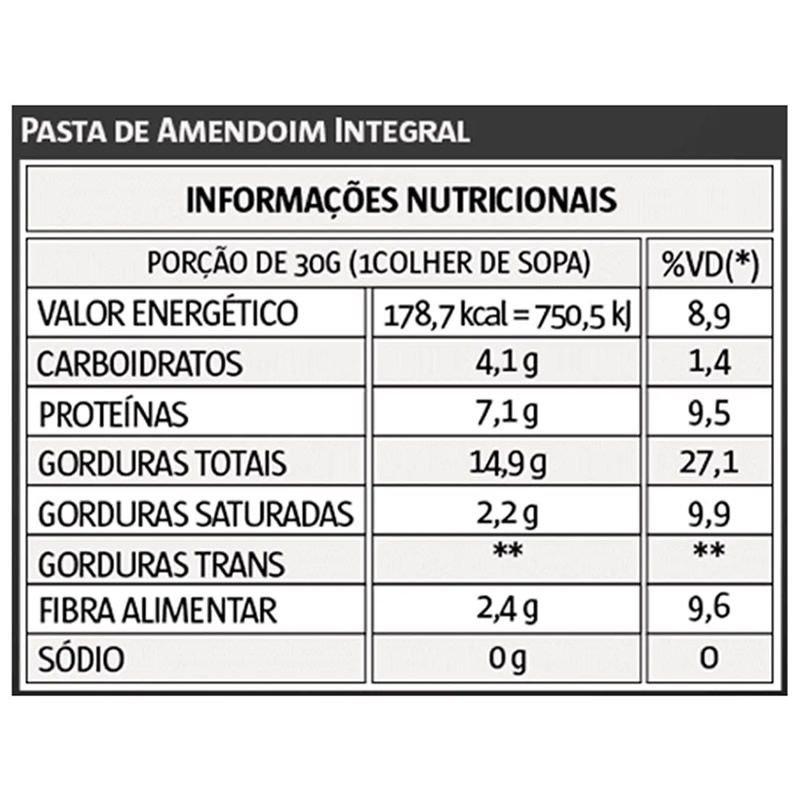 Pasta de Amendoim Integral 1kg - Vitapower