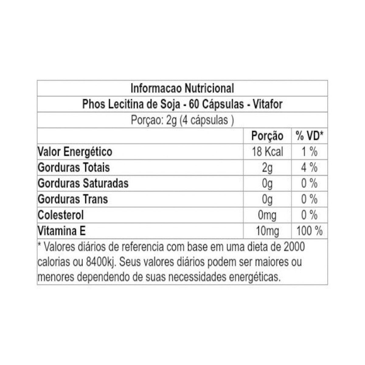PHOS 60 cápsulas - Vitafor
