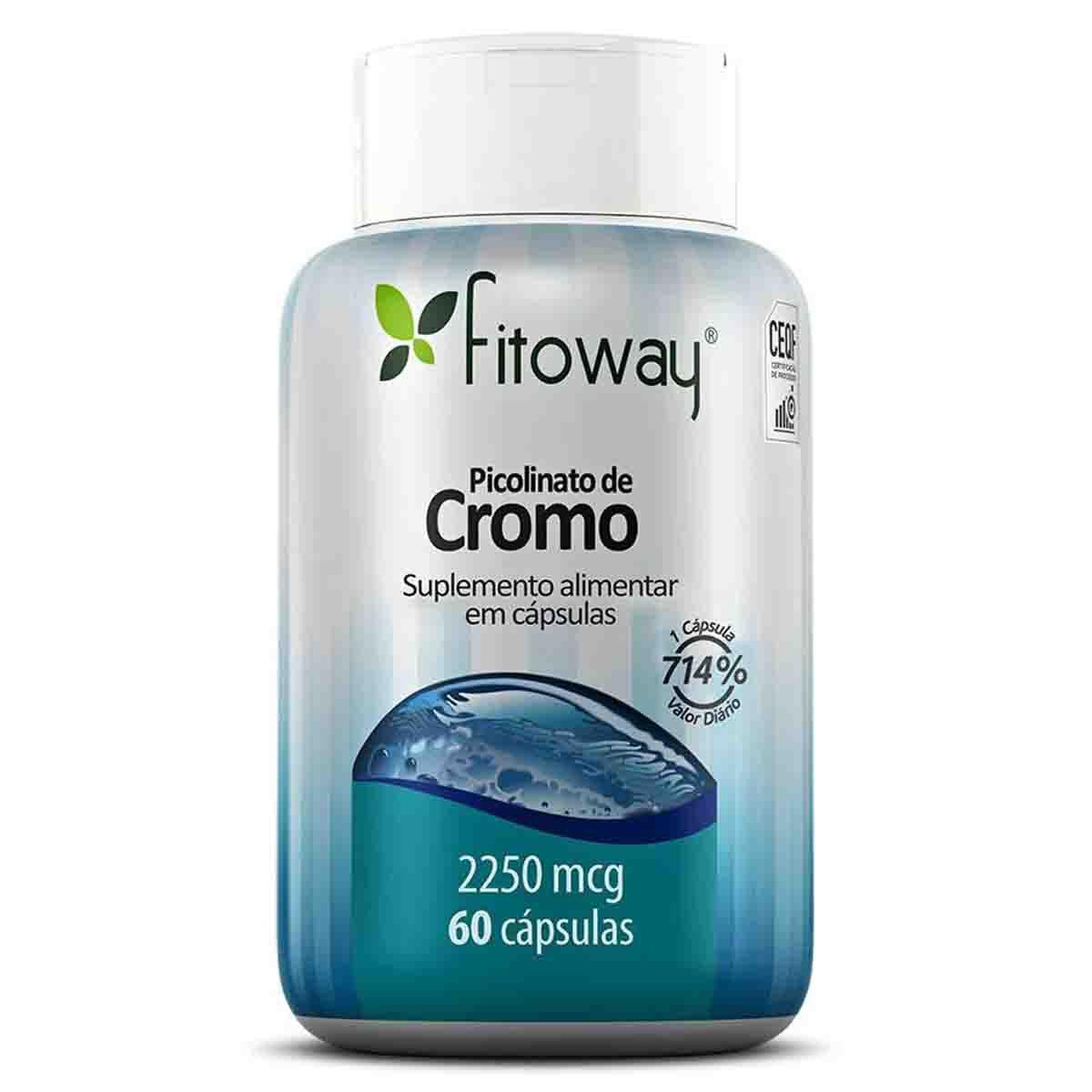 Picolinato de Cromo 2250mcg 60 cápsulas - Fitoway