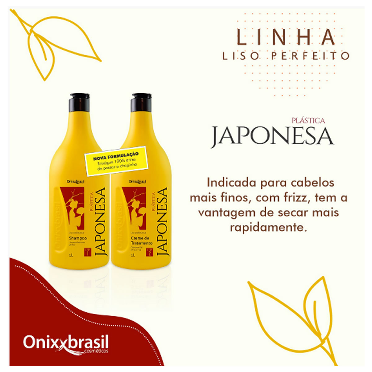 Gloss de Tratamento Plástica Japonesa 1L - Onixxbrasil