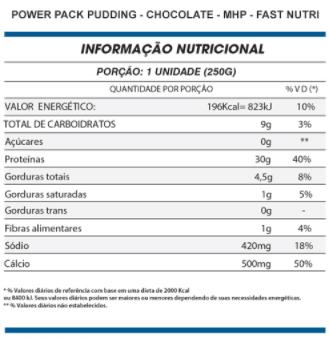 Power Pak Pudding 250g - MHP