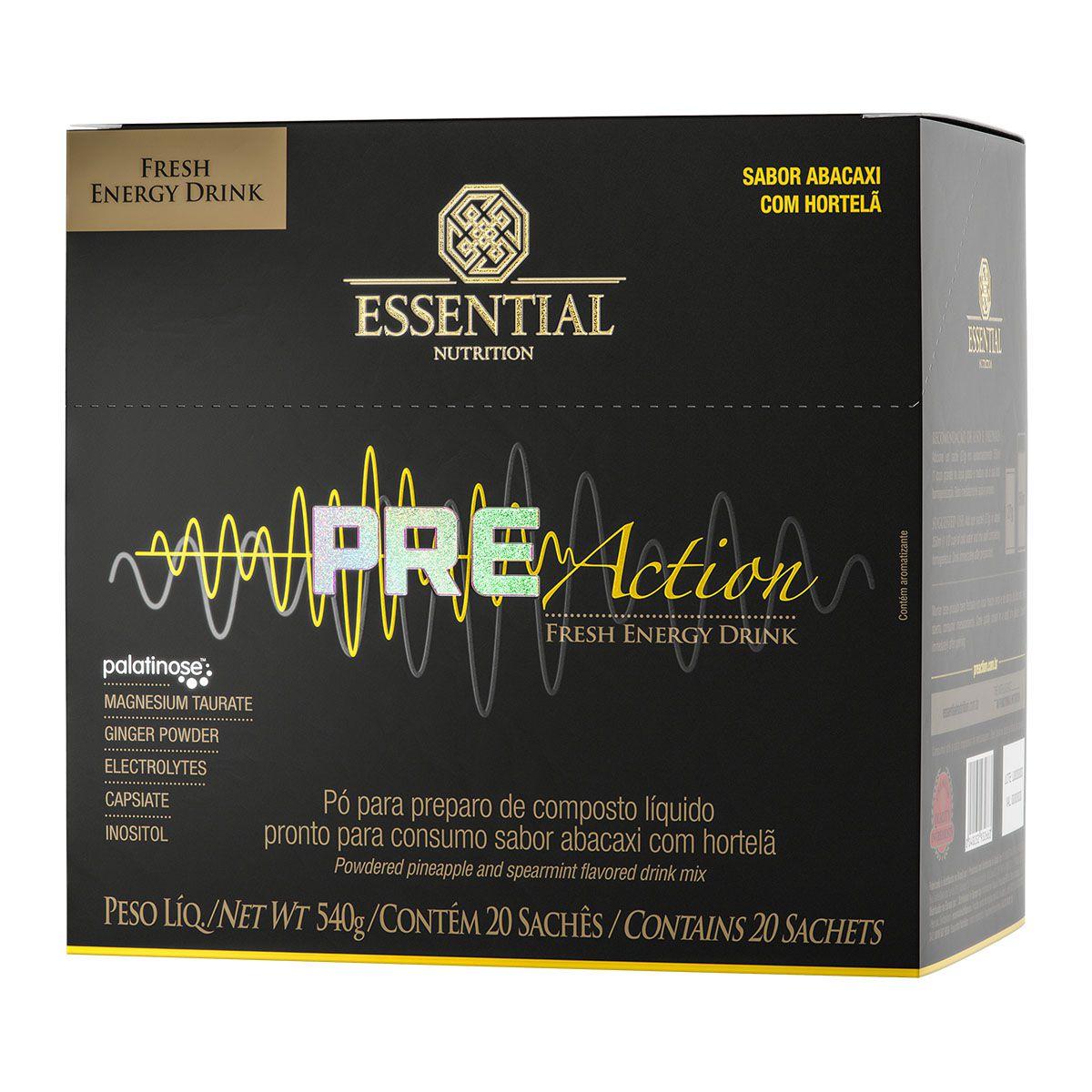 Pre Action 20 sachês/27g - Essential Nutrition