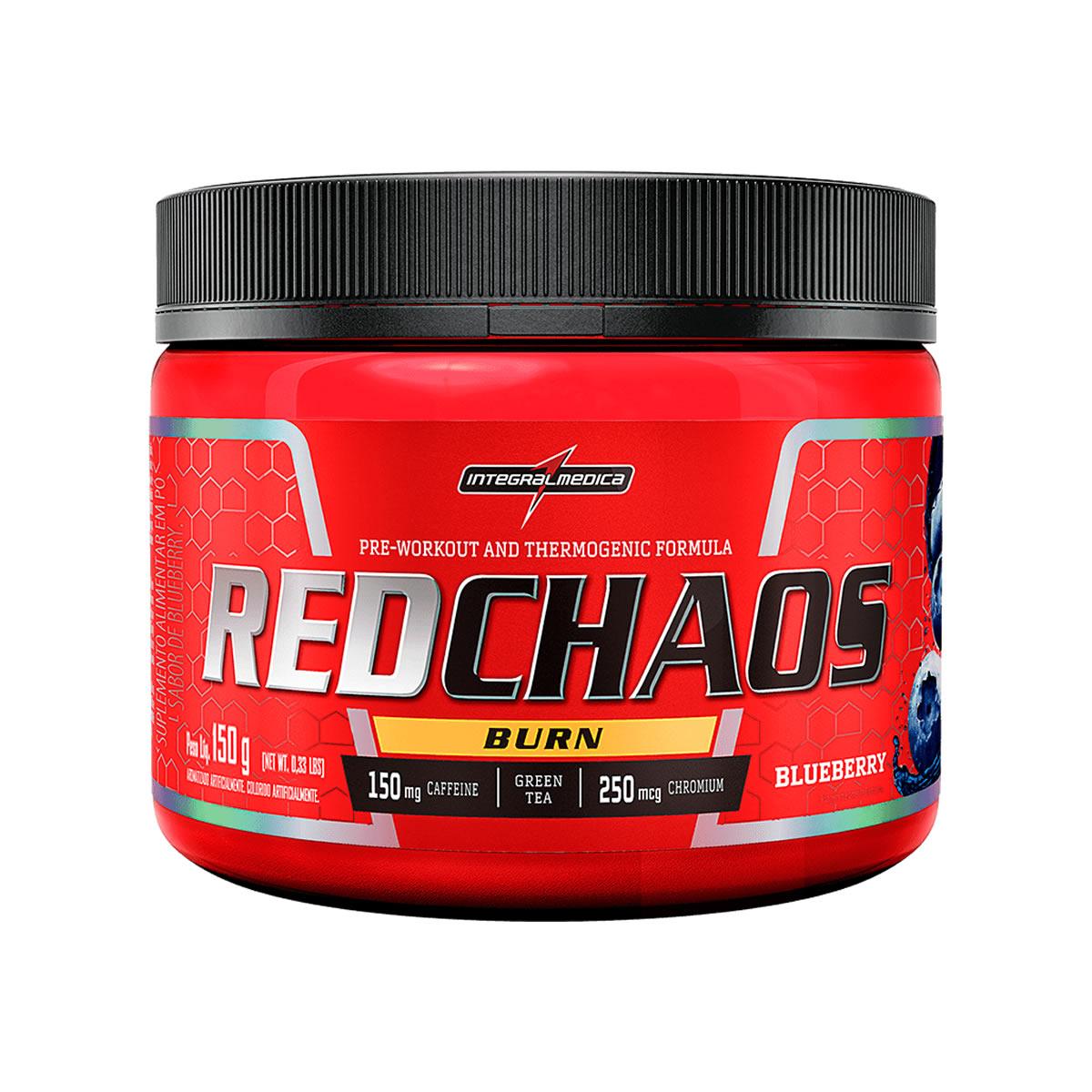 Pré Treino Red Chaos Burn 150g - Integralmédica