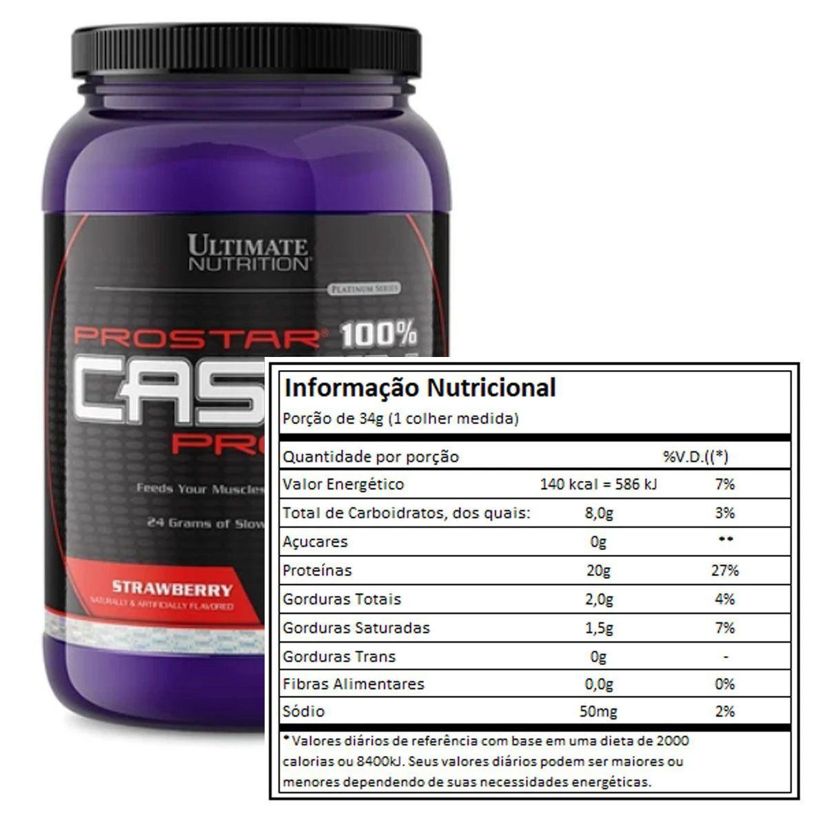 Prostar 100% Casein Protein 900g - Ultimate Nutrition