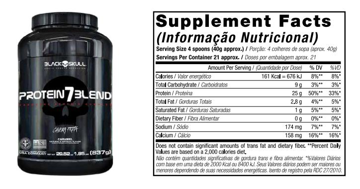 Protein 7 Blend 1.8 Kg - Black Skull