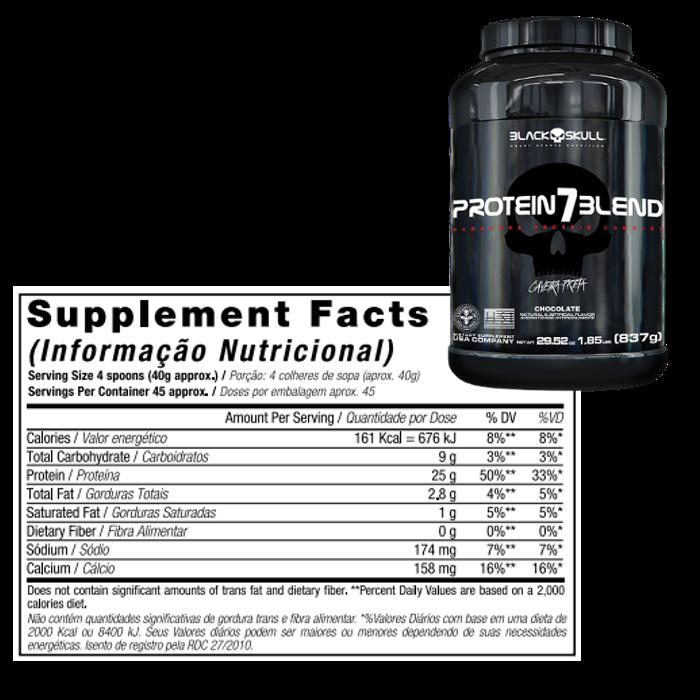 Protein 7 Blend 837g (Refil) - Black Skull