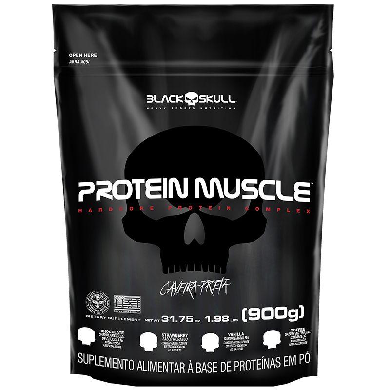 Protein Muscle Refil - 900g - Black Skull