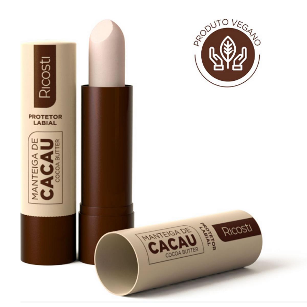 Protetor Labial Manteiga de Cacau Bastão - Ricosti
