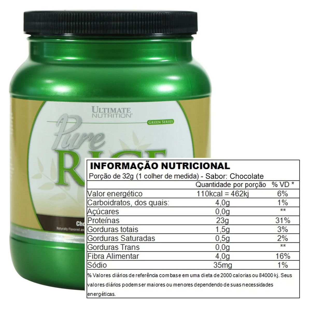 Pure Rice Protein 500g - Ultimate Nutrition