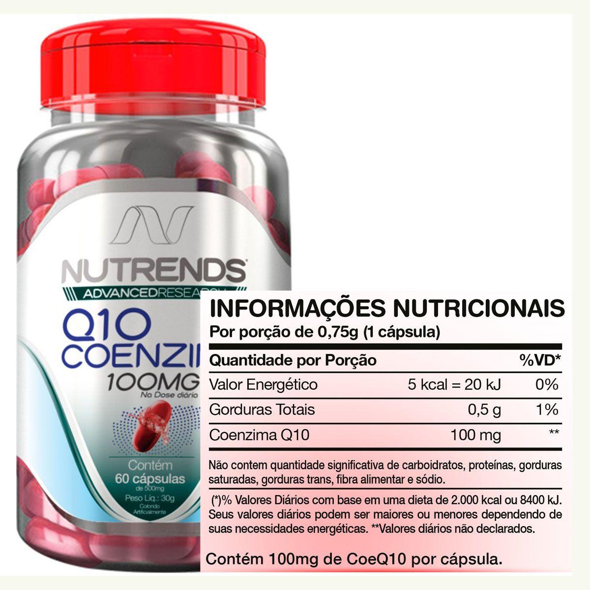 Q10 Coenzima 100mg 60 cápsulas - Nutrends