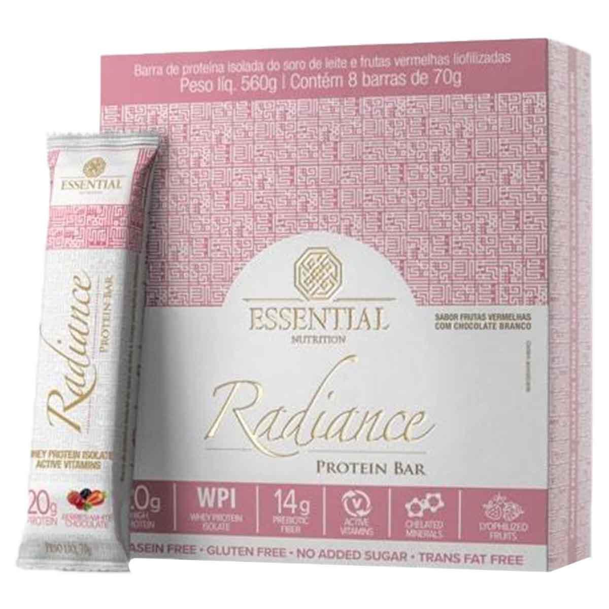 Radiance Protein Bar 8 unidades - Essential Nutrition