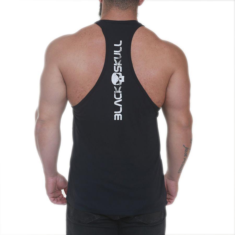 Regata Bodybuilder Black Skull Preto - Black Skull